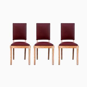 Stühle von Charles Dudouyt, 1940er, 3er Set