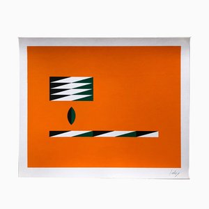 Silkscreen Print by Yves Laloy for Panderma, 1977