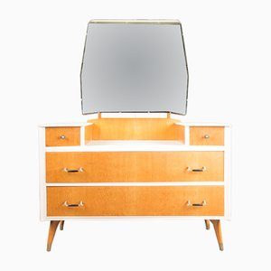 Vintage Oak & Walnut Dressing Table from Austinsuite, 1950s