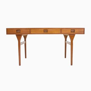 Danish Teak Desk by Nanna Ditzel for Søren Willadsen, 1960s