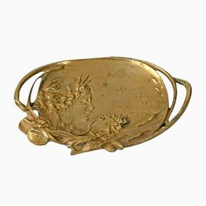 Jugendstil Bronze Aschenbecher