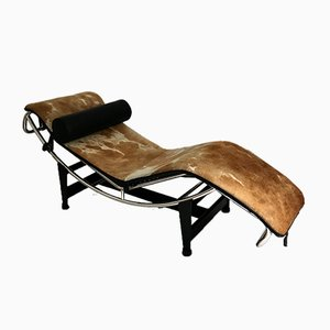 Vintage LC4 Chaise Lounge by Le Corbusier for Cassina