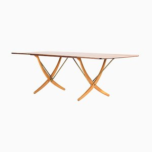 Saber Leg Dining Table by Hans J. Wegner for Andreas Tuck, 1960s