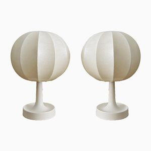 Salbo Cocoon Table Lamps from Goldkant, 1960s, Set of 2