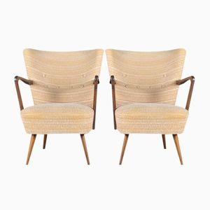 Mid-Century German Easy Chairs, Set of 2