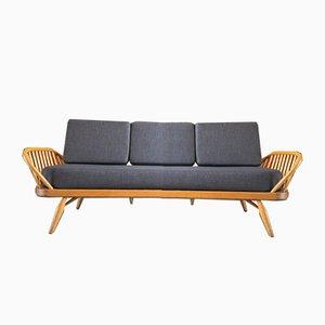 Schlafsofa oder Studio Couch mit grauem Wollbezug von Ercol