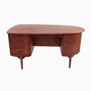 Mid-Century Teak Desk with Organic Shape