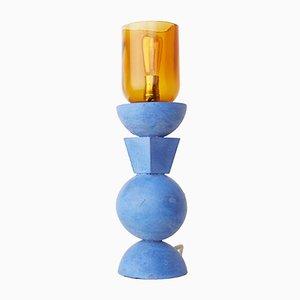 Concreto Tótem Lamp in Blue Concrete by Nikita Garrido, 2018