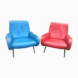 Lady Lounge Chairs by Marco Zanuso for Arflex, 1950s, Set of 2