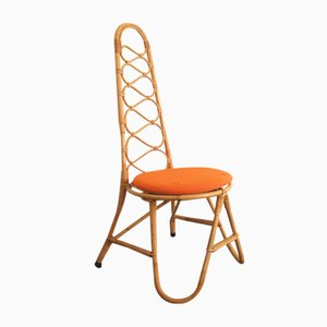 French Rattan Chair, 1960s