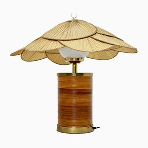 German Rattan Table Lamp by Ingo Maurer, 1970s