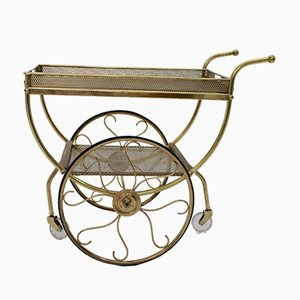 Brass Bar Cart from Svenskt Tenn, 1960s