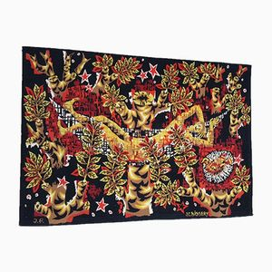 Vintage Multicolored Tapestry by Jean-Claude Bissery for Jean Laurent Aubusson