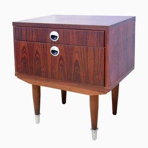 Vintage Scandinavian Rosewood Bedside Table