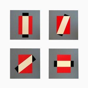 Rotation Silkscreen Prints by Lars-Gunnar Nordström for Partanen, 1988, Set of 4