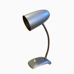 Graue Schwanenhals Vintage Tischlampe, 1950er
