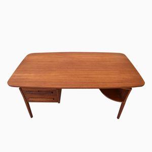 Vintage Teak Desk by Gunnar Nielsen for Tibergaard