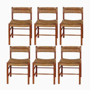 Vintage Dordogne Chair von Charlotte Perriand für Sentou, 6er Set