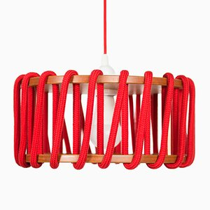 Red Macaron Pendant Lamp by Silvia Ceñal for Emko