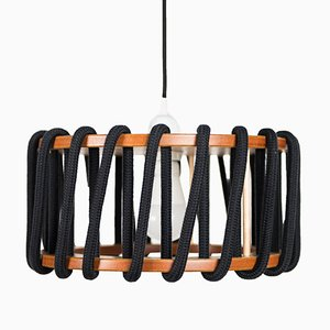 Small Black Macaron Pendant Lamp by Silvia Ceñal for Emko