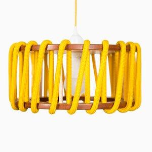 Kleine gelbe Macaron Hängelampe von Silvia Ceñal für Emko