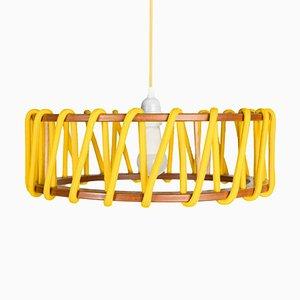 Große gelbe Macaron Hängelampe von Silvia Ceñal für Emko
