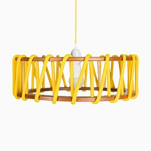 Large Yellow Macaron Pendant Lamp by Silvia Ceñal for Emko