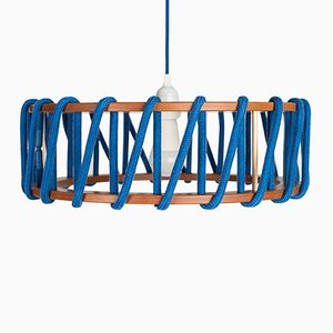 Large Blue Macaron Pendant Lamp by Silvia Ceñal for Emko