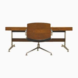 Palisander Chef Schreibtisch & FK84 Bürosessel von Jorgen Kastholm & Preben Fabricius für Kill International, 1960er