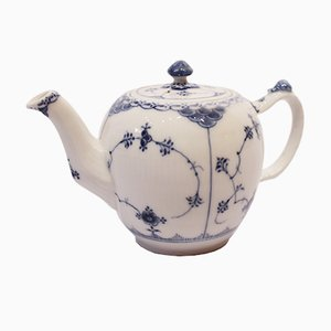 Blue Fluted Half Lace No. 609 Teapot from Royal Copenhagen, 1940s