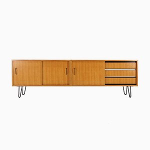 Ash Sideboard with Hairpin Legs, 1950s