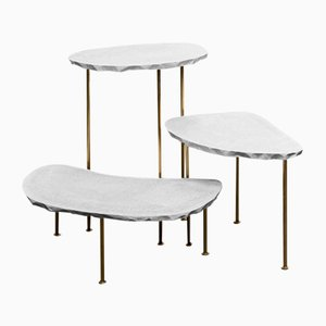 Tables d'Appoint Modern Fossil par MORGHEN, 2016, Set de 3