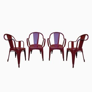 Model C Garden Chairs by Xavier Pauchard for Tolix, 1960s, Set of 4