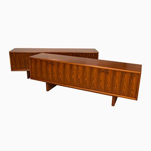 Model GR75 Rosewood Sideboards by Martin Hall for Gordon Russell, 1970s, Set of 2