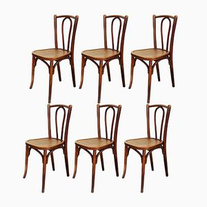 Bistro Chairs from Baumann, 1930s, Set of 6