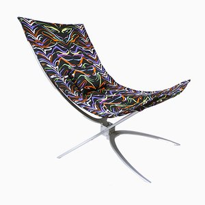 Ambrogina Folding Chair in Tiger Printed Satin from Missoni Home, 2007