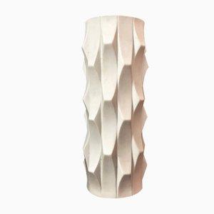 Deutsche Mid-Century Op Art Vase aus Biskuitporzellan von Heinrich Fuchs für Hutschenreuther, 1960er