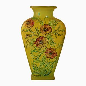Handgearbeitete Mid-Century Glasvase von Les Grands Ducs