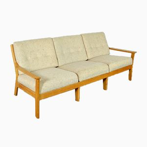 Mid-Century Scandinavian Sofa in Cream Wool, 1960s