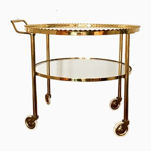 Brass Bar Cart from Vereinigte Werkstätten Collection, 1950s