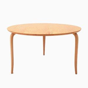 Danish Annika Coffee Table in Burl Birch by Bruno Mathsson for Dux, 1960s