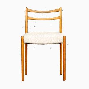Minimalistischer Mid-Century Stuhl aus Kirschholz & Wolle