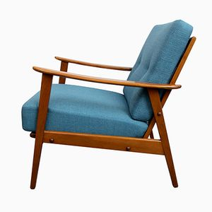 Mid-Century German Armchair in Petrol, 1950s