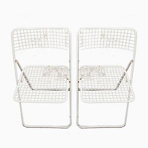 White Folding Chairs by Niels Gammelgaard for Ikea, 1970s, Set of 2