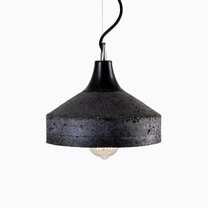 Vulcano Concrete Lamp in Charcoal by Bogumił Gala for Galaeria