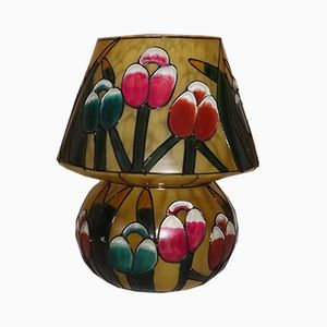 Vintage Opalglas Mushroom Vase, 1970er