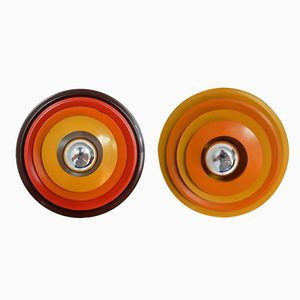 Multicolored Wall Lamps, 1970s, Set of 2