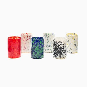 Macchia su Macchia Color Mix Glasses by Stories of Italy, Set of 6