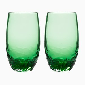 Dattero Emerald Glasses by Stories of Italy, Set of 2