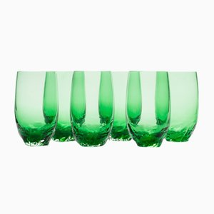 Dattero Emerald Glasses by Stories of Italy, Set of 6